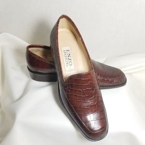 Enzo Angiolini Brown Loafers Womens Size 5.5 B